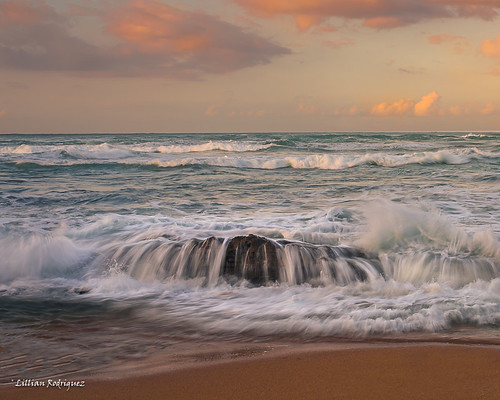sunset rocks puertorico atlanticocean islaverde silks coastalscene watermovement nikond810