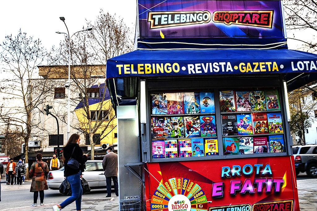 Newsstand on 3-30-21--Tirana