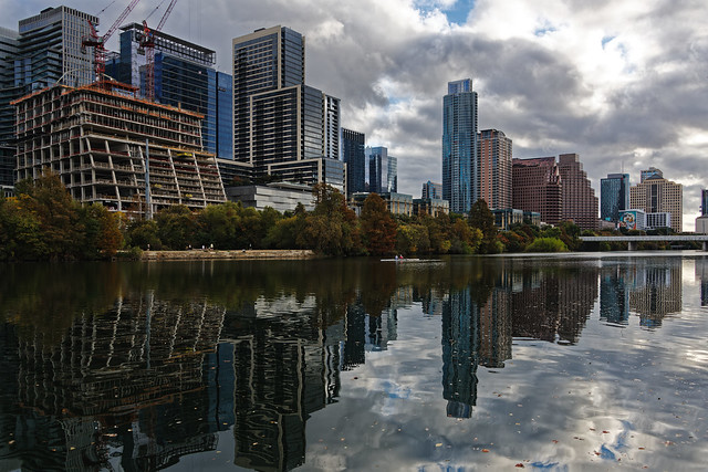Reflections on the Waters of Lady Bird Lake