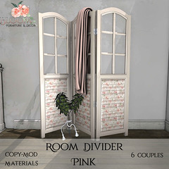 Bloom! - Room Divider PinkAD