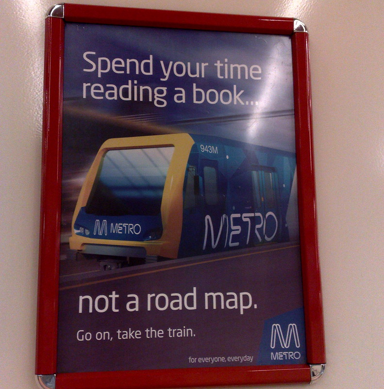 Metro advertising, March 2011