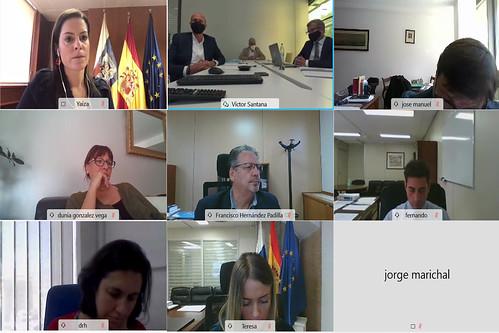 Un momento del Consejo de Administración de Hoteles Escuelas de Canarias (HECANSA)