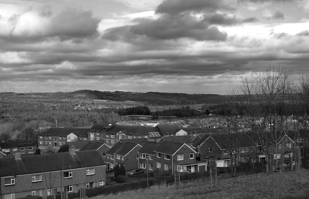 Our Daily Topic - Horizon - Stormy skies over Northumberland.  IMG_5545B&W