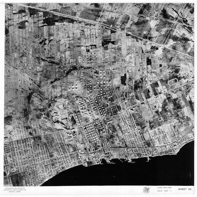 Avril 1954 : les ruisseaux d'Anjou, Tétreaultville et Montréal-Est (originale)