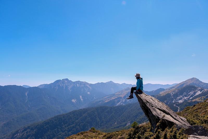 遠眺美景也是登山的一大樂趣。圖/山女孩提供
