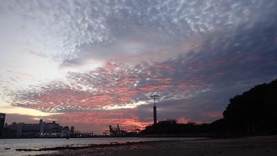 Sunrise over Sentosa