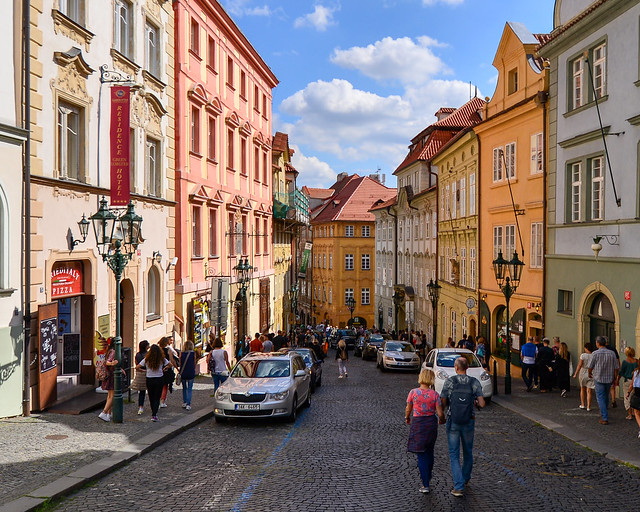 Calle Nerudova en Mala Strana