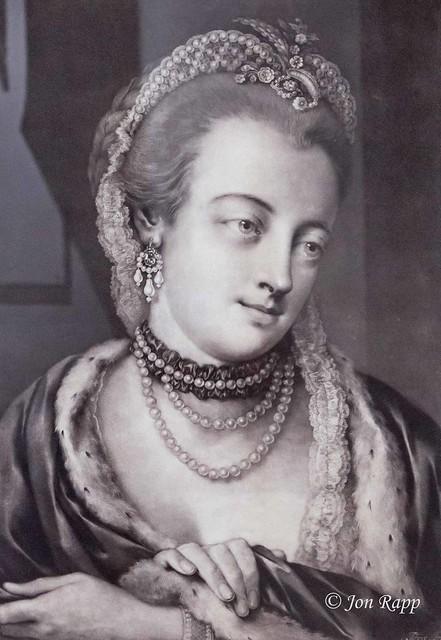 1761 Maria Gunning, Countess Of Coventry mezzotint by Thomas Frye (MU) (edit)
