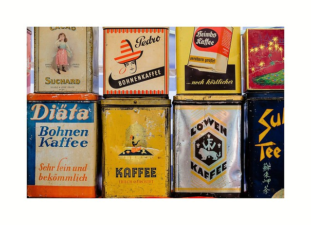 Alte Kaffeedosen - Old coffee tins