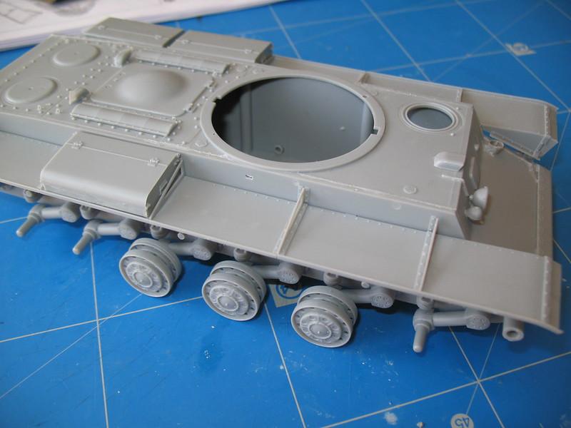 KV big turret trumpeter montage à blanc