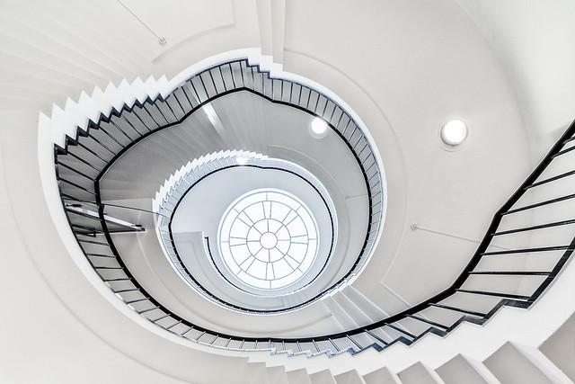 White stairs, somewhere in Utrecht