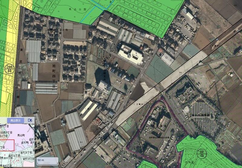 船橋二和高校南側の空間は成田新幹線買収済用地なのか検証する (5)