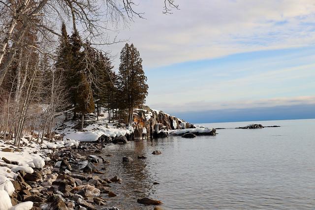 Rocky shoreline of Lake Superior