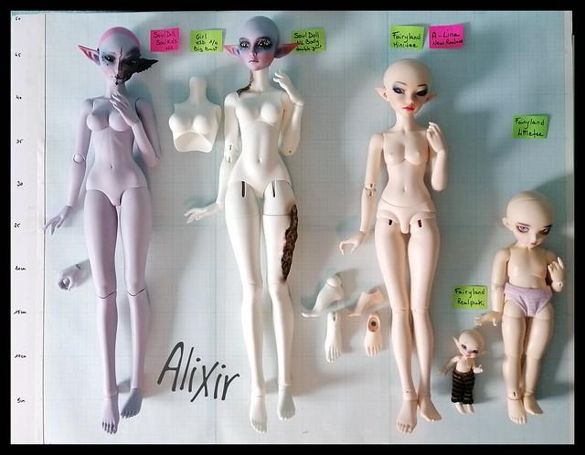 bjd_comparaison_souldoll_kids_NL_body_Fairyland_A-line_newR_littlefee_realpuki_alixir