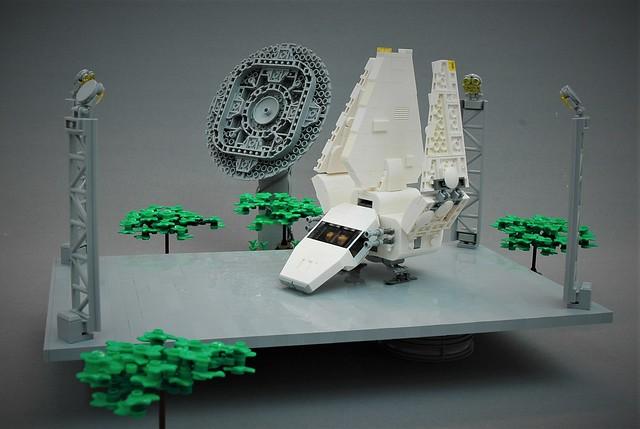 Lambda shuttle on Endor