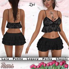 Ruffled top and skirt - Zoi
