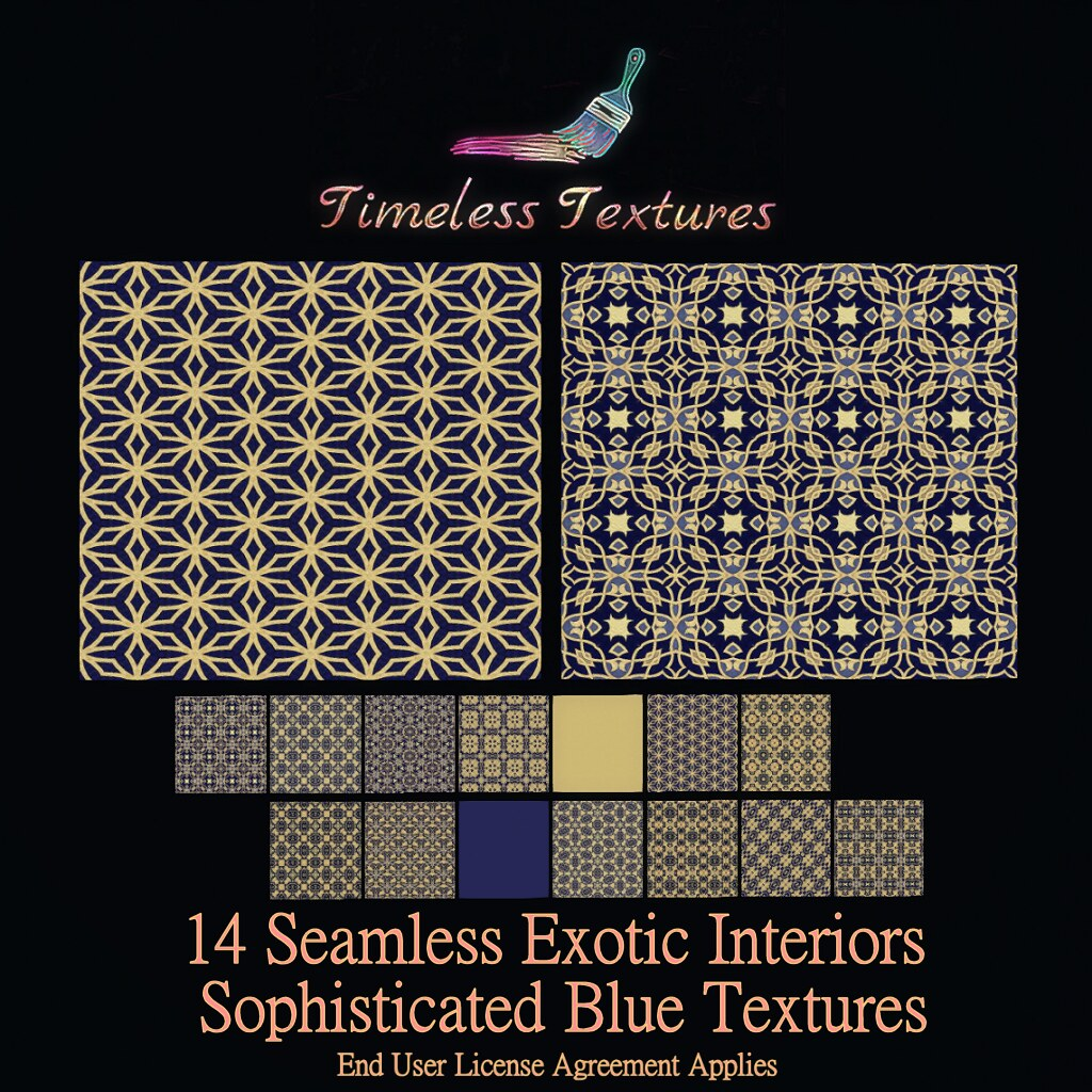 TT 14 Seamless Exotic Interiors Sophisticated Blue Timeless Textures
