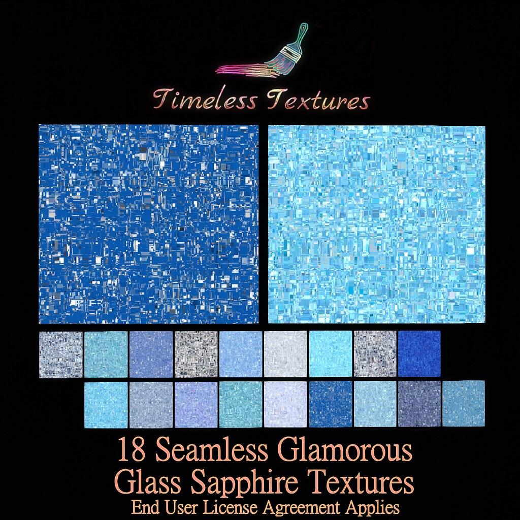 TT 18 Seamless Glamorous Glass Sapphire Timeless Textures