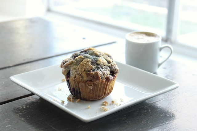 Blueberry Muffin with Coffee
