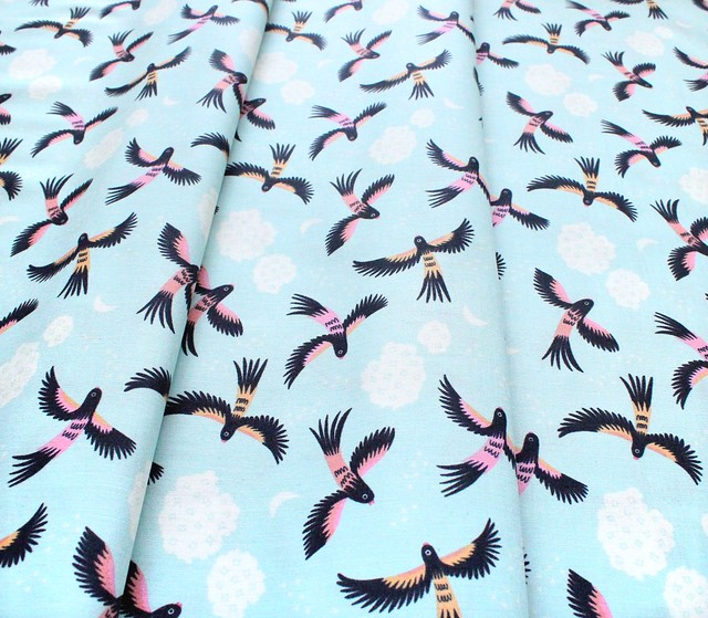 Cloud9 Fabrics Tropical Garden 227008 Parrot Play
