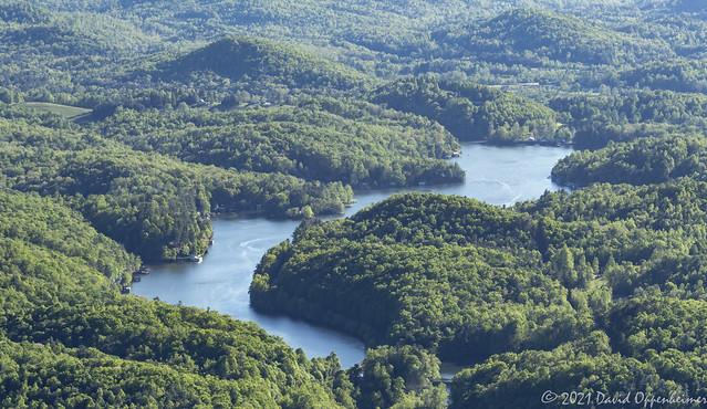 Lake Summit in Tuxedo North Carolina Aerial View