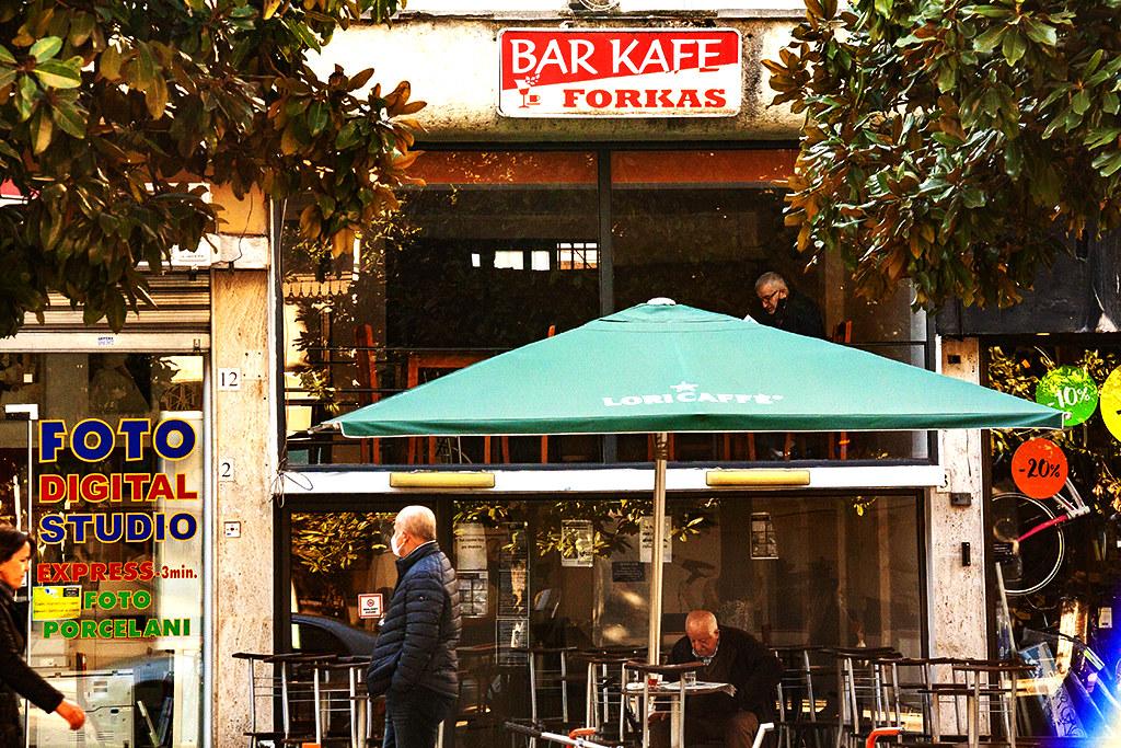BAR KAFE FORKAS on 3-31-21--Tirana