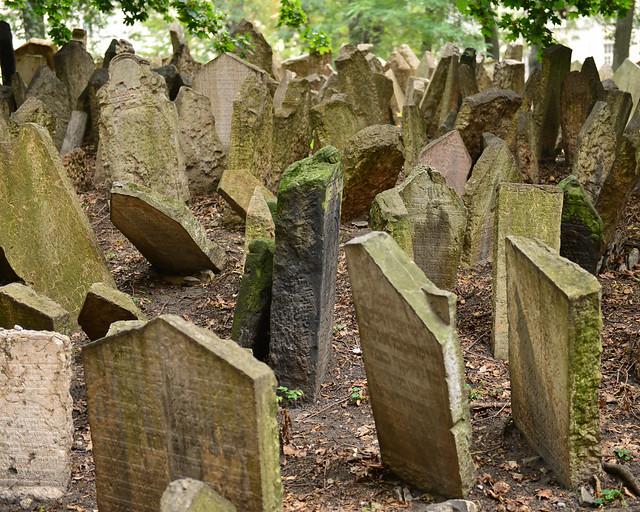 Fotografías del cementerio judío de Praga