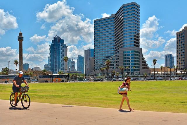Tel-Aviv Jaffa / Charles Clore Park / HassanBek Mosque  /  Inter Continental David Hotel