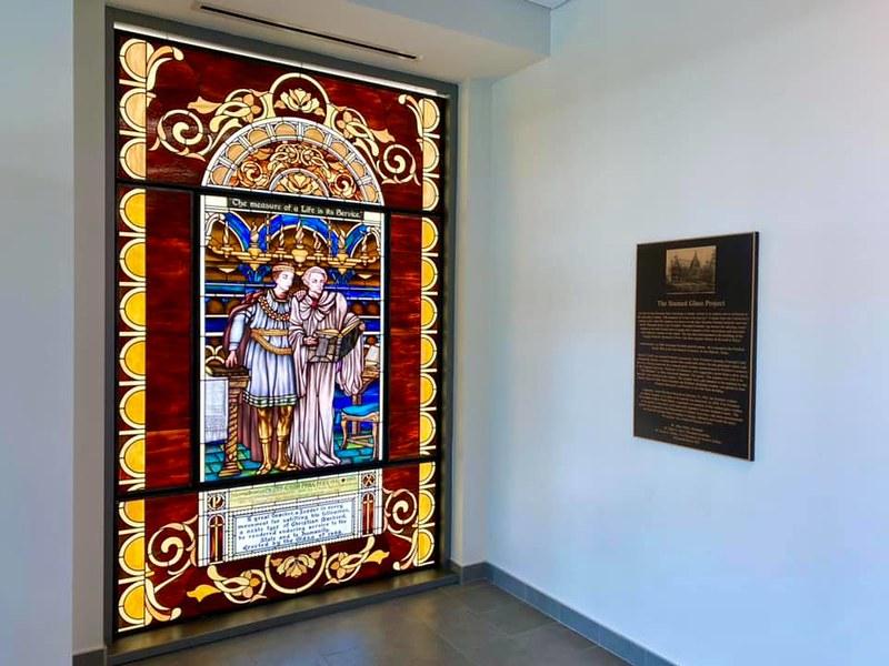 SHSU Stained-Glass Window (old & new)