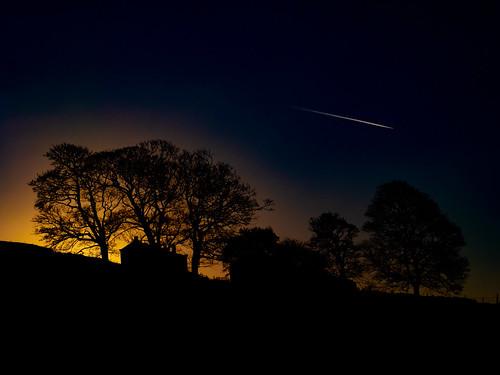 haworth dusk gx9 brontecountry bronte yorkshire brontefalls nightsky ruin sunset