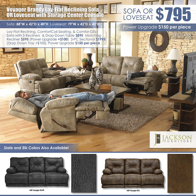 Voyager Brandy Reclining Sofa OR Loveseat_438_All Colors