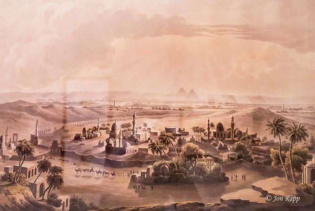 1809 Pyramids Of Egypt aquatint by Havell & Rawle (MU) (edit)