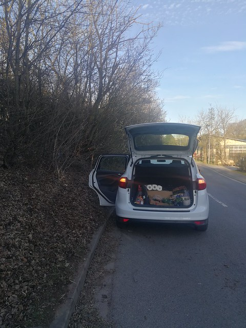 The end of my mothers car - it did hit an almost dead tree in the hedge on the left side of the car -IMG_20210329_183347