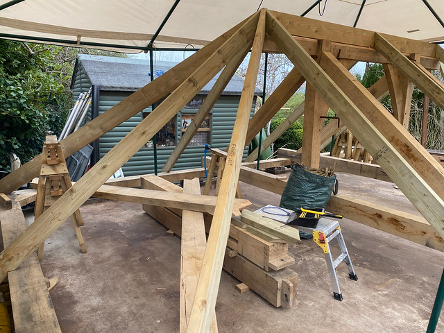 Softwood hip rafters and key common rafters