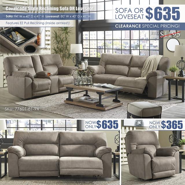 Cavalcade Slate Reclining Sofa OR Loveseat_77601-81-94-T894