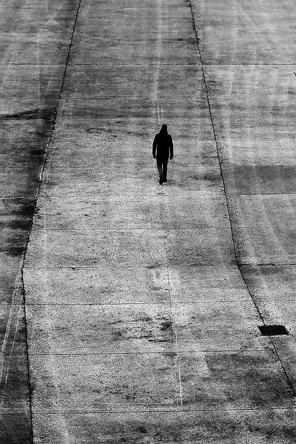 On the asphalt road
