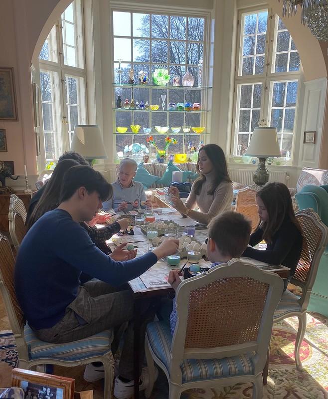 Paasgroet van Koningin Margrethe van Denemarken en het Kroonprinselijk gezin van Denemarken (2021)