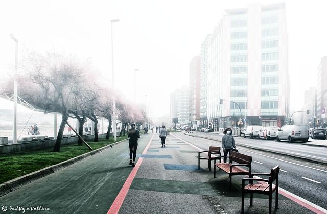 Niebla en Gijón