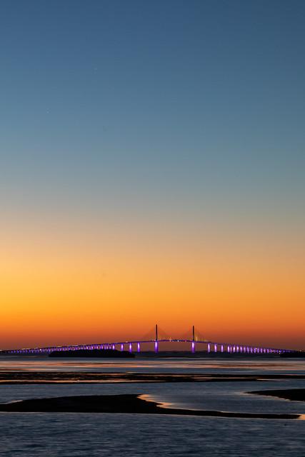 Sunshine Skyway Sunrise Vetical