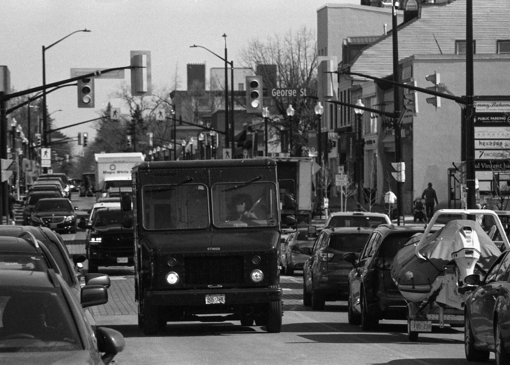 UPS Truck Making its Way