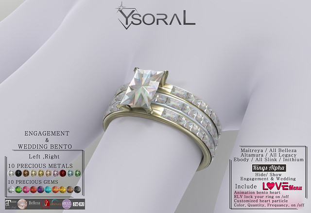 ~~ Ysoral ~~ .:Luxe Engagement & Wedding Ring Lore:.(BENTO)