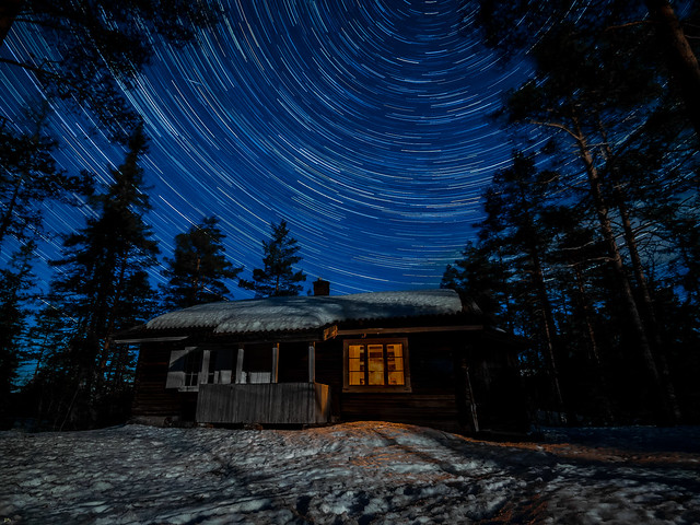 Star trails in the middel of nowhere