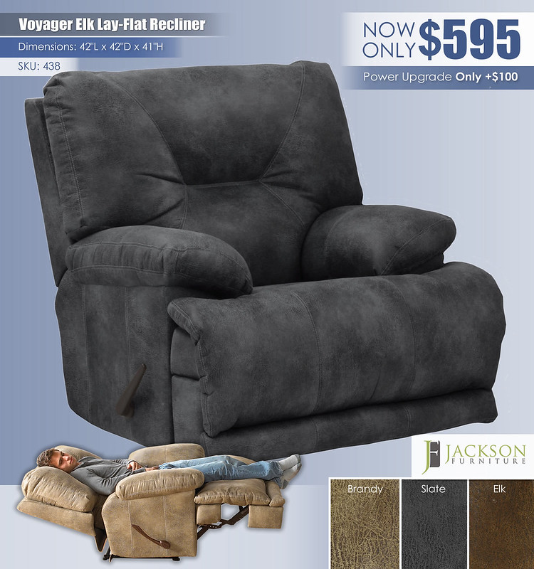Voyager Slate Lay Flat Recliner_438