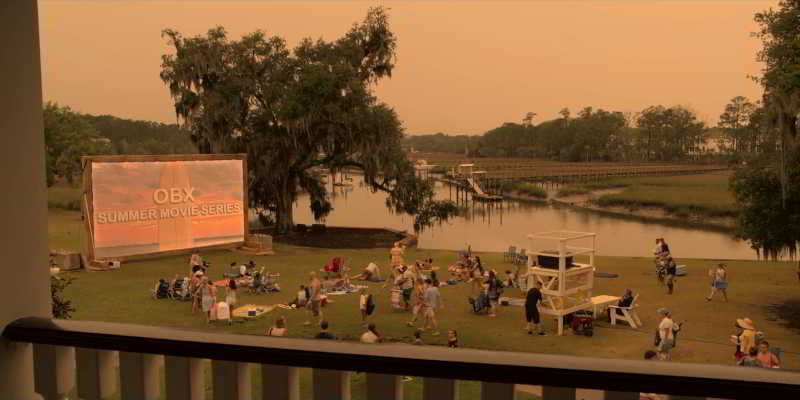 The outdoor movie theater