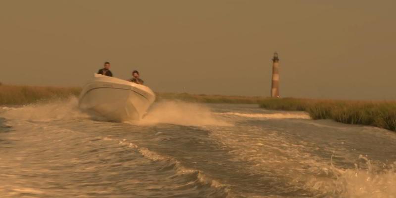 wetlands speedboat sequence