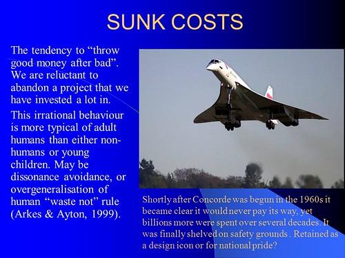 La falacia del Concorde y otros costes irrecuperables (sunk costs)