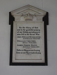 in grateful memory of our fellow parishioners who fell in the Great War