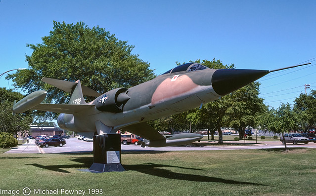 56-0938 - 1956 fiscal Lockheed F-104C Starfighter, on display at Keesler marked as AF56938