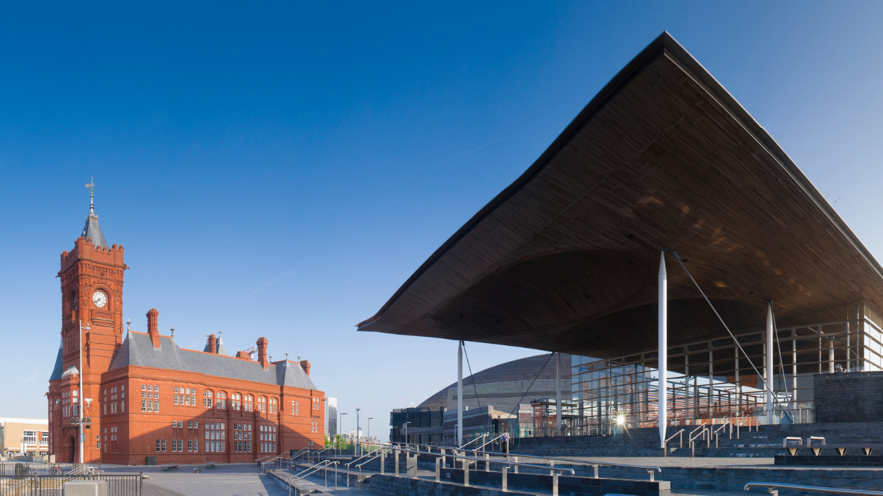 Welsh Government building in Cardiff Bay