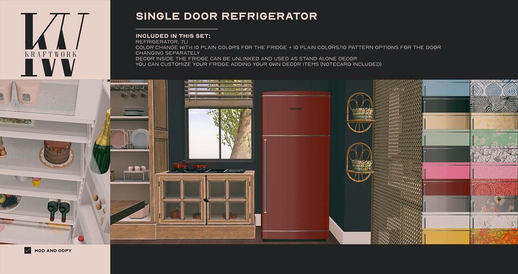 KraftWork Single Door Refrigerator at Fameshed